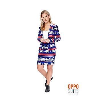 Miss Rudolph Christmas suit ladies costume colorful Slimline 2 premium