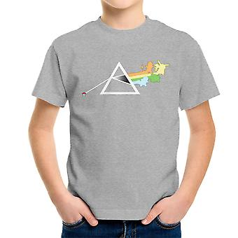 Pokemon Pink Floyd Dark Side Of The Pokeball Moon Kid's T-Shirt