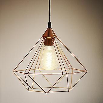 Eglo Tarbes Vintage Geometric Cooper Ceiling Pendant, Large