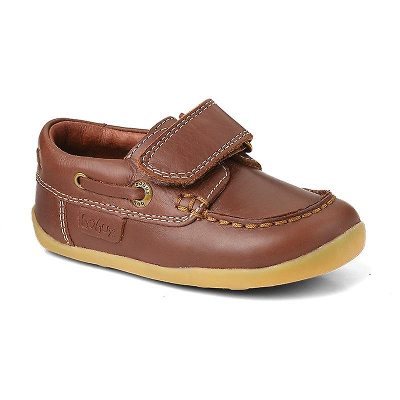 Bobux Step Up Boys Ahoy Matey Shoes Brown Leather