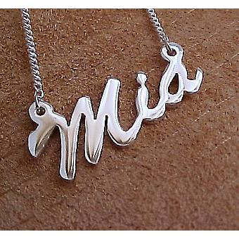 Name necklace with your name up to 4 characters made from 925 sterling silver
