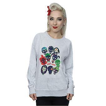 Selvmord Squad kvinders Band af kranier fyldt Sweatshirt