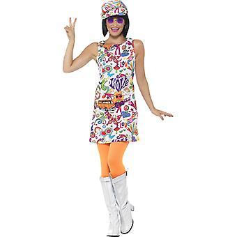60s Twiggy mini dress hippie Groovy chick Lady costume