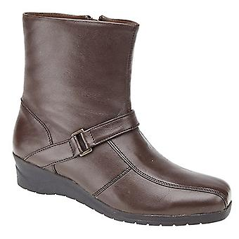 Mod Comfys Womens/Ladies Softie Leather Inside Zip Ankle Boots
