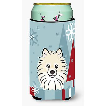 Winterurlaub Pommerschen großer Junge Getränk Isolator Hugger