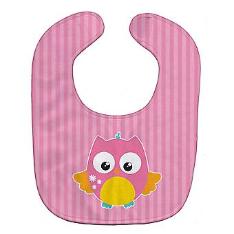 Carolines Treasures  BB9114BIB Owl and Pink Stripes Baby Bib