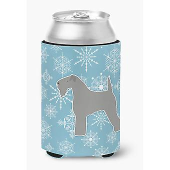 Winter Snowflake Kerry Blue Terrier Can or Bottle Hugger