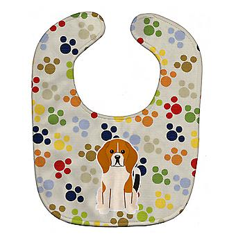 Carolines Treasures  BB5869BIB Pawprints Beagle Tricolor Baby Bib