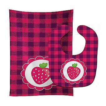 Carolines Treasures  BB7105STBU Stawberry Baby Bib & Burp Cloth