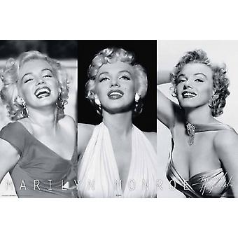Marilyn Monroe - Trio plakat plakat Print