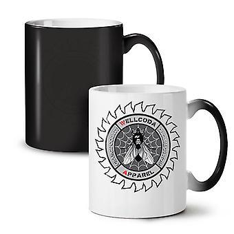 Wütend Fliegennetz coole neue schwarze Farbe wechselnden Tee Kaffee Keramik Becher 11 oz   Wellcoda