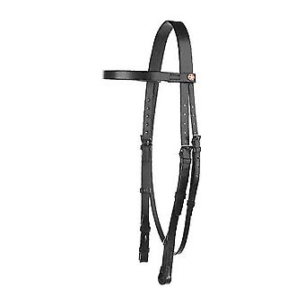 Jeffries Falcon Plain Headstall With 3 Quarter Cheeks Headpiece