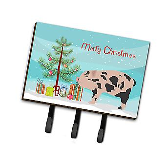 Carolines Treasures  BB9302TH68 Mini Miniature Pig Christmas Leash or Key Holder