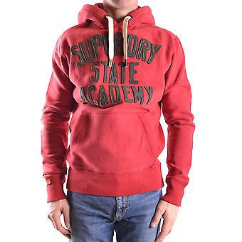 Superdry men's MCBI371002O red cotton Sweatshirt