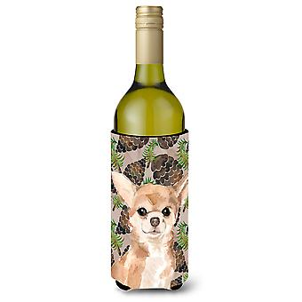 Chihuahua Pine Cones Wine Bottle Beverge Insulator Hugger