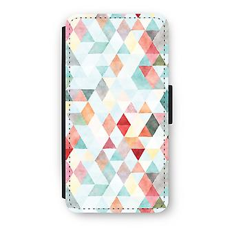 Huawei Ascend P10 Flip Case - Coloured triangles pastel