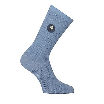 Folk Powder Blue Waffle Knit Socks