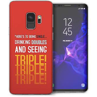 Samsung Галактика S9 видя тройной цитата гель ТПУ – красный