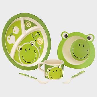 New Vango Kids Frog Bamboo Tableware set Camping Cooking Equipment Green