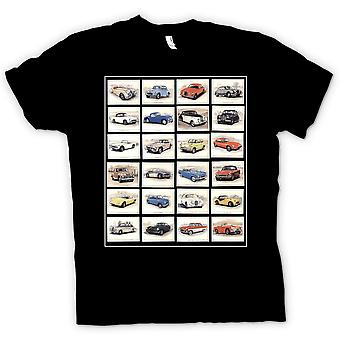 Kinder T-shirt - Oldtimer Motor Collage - Poster