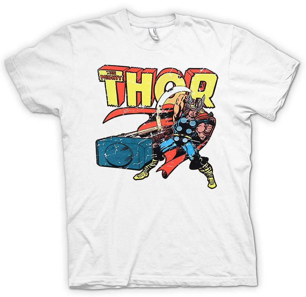 Mens t-shirt-The Mighty Thor In azione