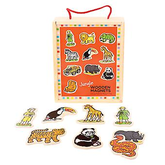 Bigjigs Toys Wooden Jungle Magnets (20) Magnetic Educational Story Telling