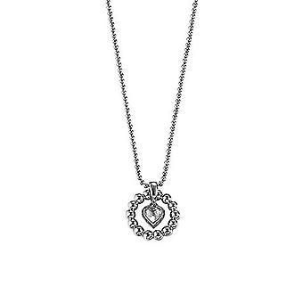 ESPRIT women's chain necklace silver cubic zirconia heart ESNL92073A420 pellet