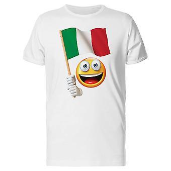 Happy Emoji With Italian Flag Tee Men's -Image by Shutterstock