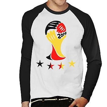 Deutschland 2014 World Cup Herren Baseball T-Shirt Langarm