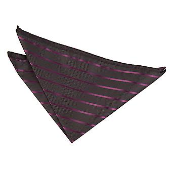 Schwarz / Lila Single Stripe Einstecktuch
