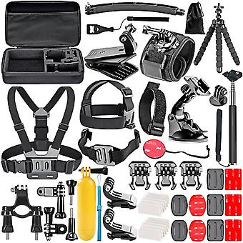 GoPro kit with 45 pieces + bag