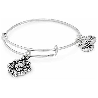 Alex and Ani Because I Love You Granddaughter Charm Bangle Rafealian Silver - A18BILY06RS
