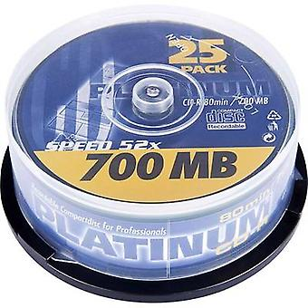 Blank CD-R 80 700 MB Platinum 102565 25 pc(s) Spindle