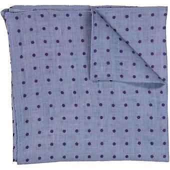 40 Colori Dotted Pocket Square - Light Blue/Purple