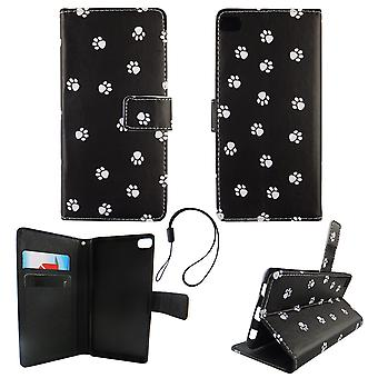 Mobile phone case pouch for mobile Huawei P8 polka dot dog legs