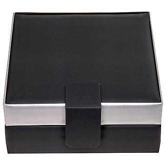 Sacher watch case watch box, watch box CARVONE Black Silver for 8 watches