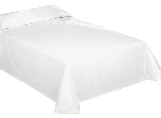 Wellindal Rustic bedspread / bedspread smooth optical white tinted thread