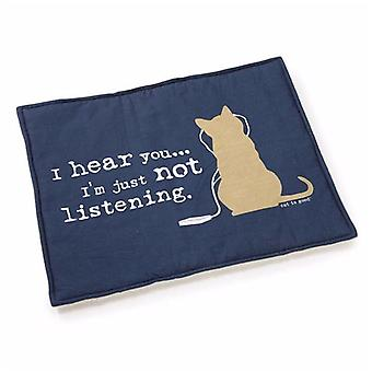 Katze ist gute Katze matt blau
