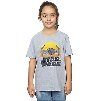 Звездные войны девочек закат галстук фирменная футболка