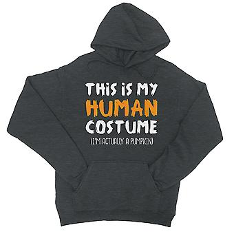 Dit Is mijn menselijke kostuum Unisex Cool grijze Pullover Hoodie