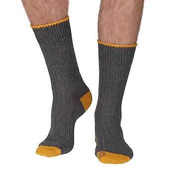 The Purist mens luxury 100% cotton boot sock in grey | By Corgi, Wales