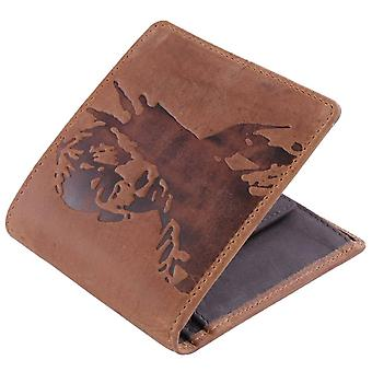 Mustard Kes Leather Wallet - Tan