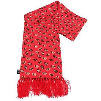Knightsbridge cravates Paisley foulard en soie - rouge