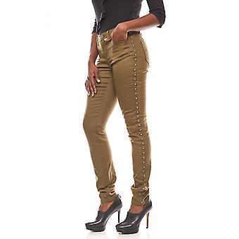 B.C.. best connections ladies trousers in the biker look olive green