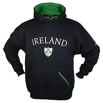 Shamrock Irlande ouatine marine rayé Rugby Hoody - tailles XS - XXL