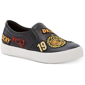 DKNY Womens Braylee läder låg topp Slip på mode Sneakers