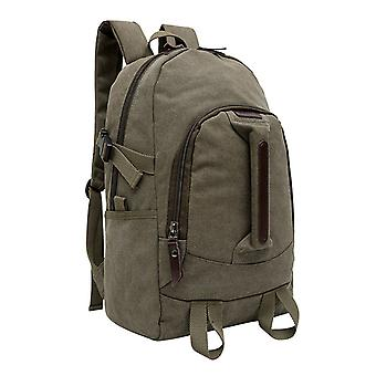 Olive green rucksack made of durable fabric