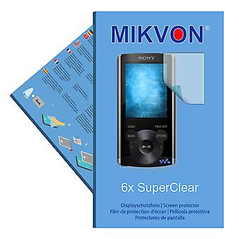 Sony NWZ-E363 screen protector- Mikvon films SuperClear (reduced foil)