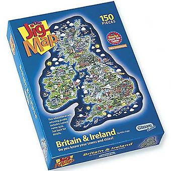 Gibsons 150 Piece Jigmap Britain & Ireland