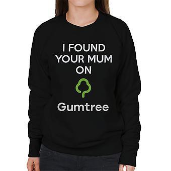 Jeg fant din mor på torget kvinners Sweatshirt
